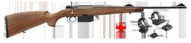 HEYM Carabine à verrou KS1 30.06 55cm + montage pivot diam. 30 MR3019P