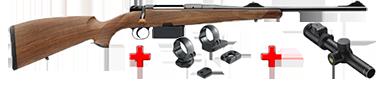 HEYM Carabine à verrou KS1 30.06 55cm + montage pivot diam. 30 MR3019P+ BRA15011