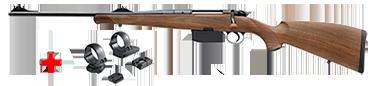 HEYM Carabine à verrou KS1 30.06 55cm Gaucher + montage pivot diam. 30 MR3019P