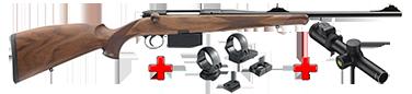 HEYM Carabine SR30 KS1 30.06 55cm + montage pivot diam. 30 MR3019P+ BRA15011