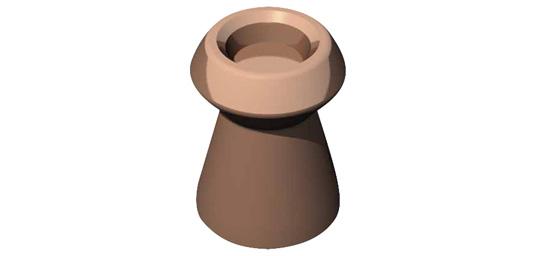 Plombs Hollow point cuivrés 4.5mm