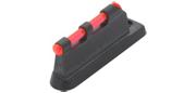 Guidon de carabine fibre optique rouge